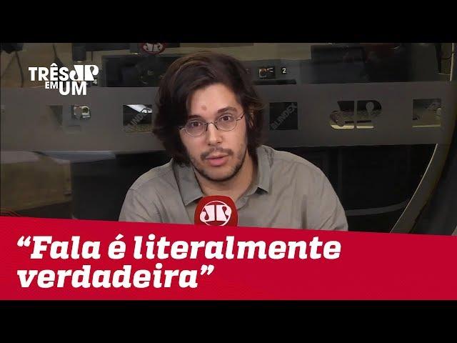 #JoelPinheiro: Fala de Bolsonaro é literalmente verdadeira