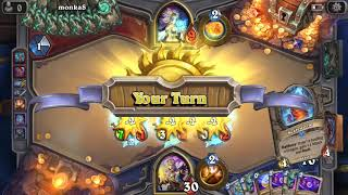[Hearthstone] Double End of Turn Priest Deck VS Toast Exodia Mage Dec Witchwood