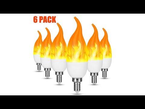 LED Flame Effect Light Bulb,E12 2W Flickering Flame Light Bulbs