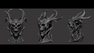 Skull sculpt timelapse (Zbrush)