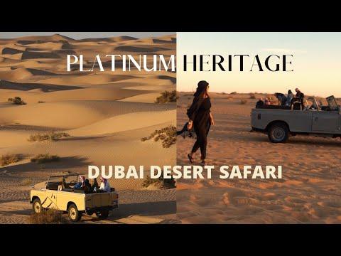 Dubai Desert Safari 2021 | Platinum Heritage (Bedouin Camp) | Vintage Land Rover Ride & Falcon show