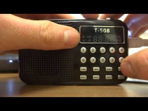 T508 - Portable FM Radio/MP3 Player Review