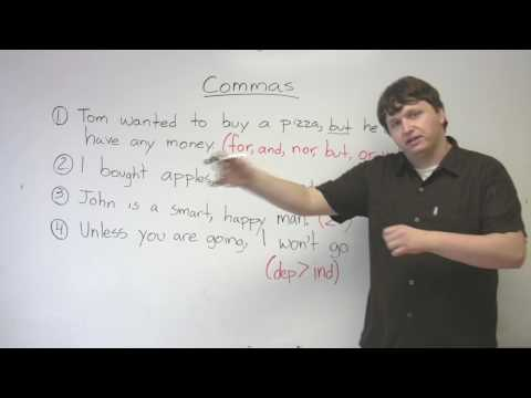 How To Use Commas In English Writing