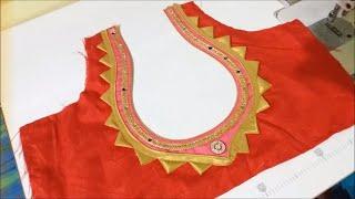 New model matka Gala blouse design cutting and stitching