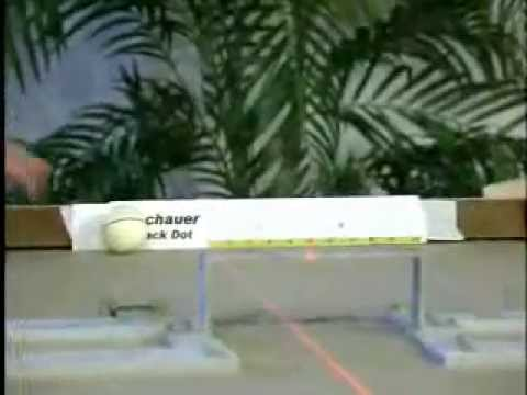 The Original Meucci Testing Video of the Black Dot Pool Cue Shaft  - 2006