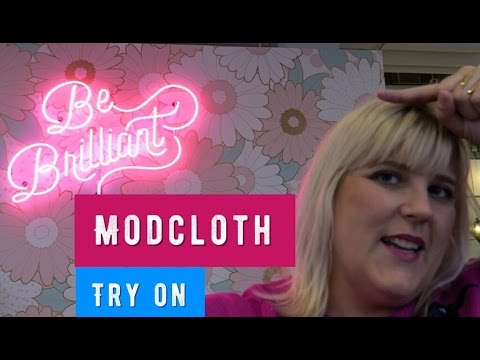 Plus Size Try on:  In The Dressing Room Modcloth