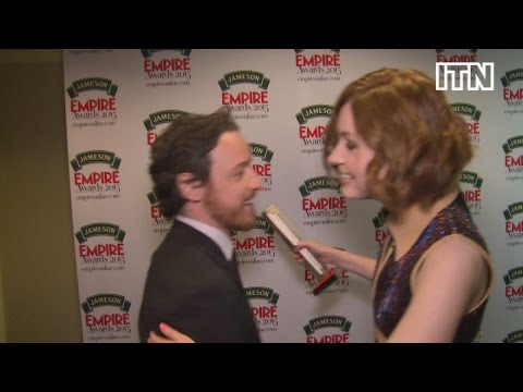 Karen Gillan says James McAvoy's a great kisser