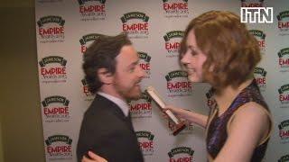 Karen Gillan says James McAvoy's a great kisser