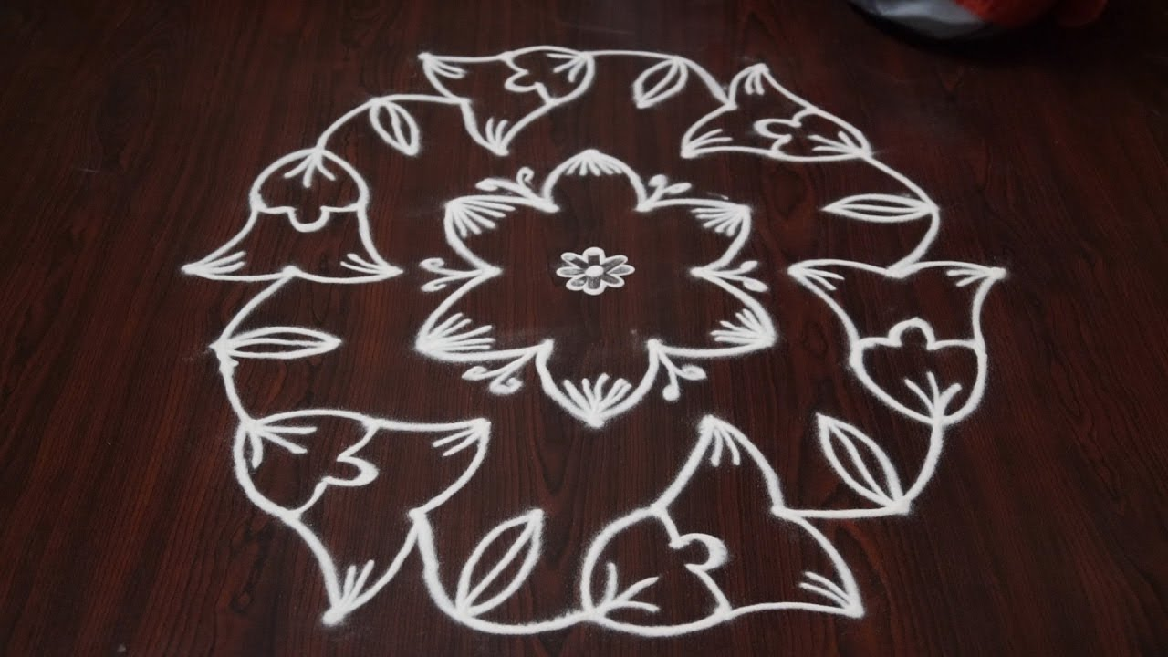Simple and easy rangoli designs simple and easy rangoli for Dots design apartment 8