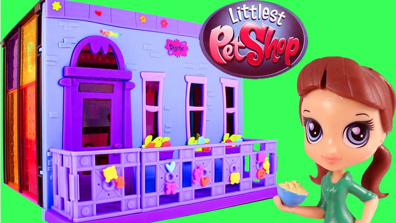 Littlest Pet Shop Style Set Blythe Bedroom LPS Toy Unboxing and Building