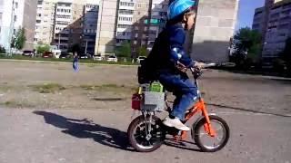 Самодельный детский мопед своими руками из детского велосипеда и мотора от бензотриммера (мотокосы)(Детский велосипед