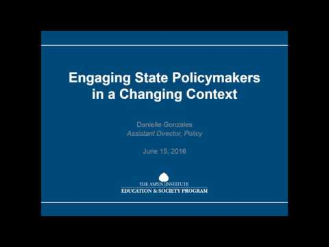 Working with State Education Policymakers for ESSA
