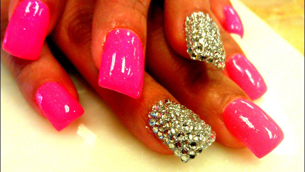 Nail Rhinestones Design Youtube