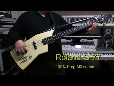 Synth Bass Cover - Bananarama - Cruel Summer - with Roland G-77 synth bass