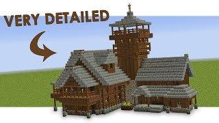 minecraft medieval build wooden