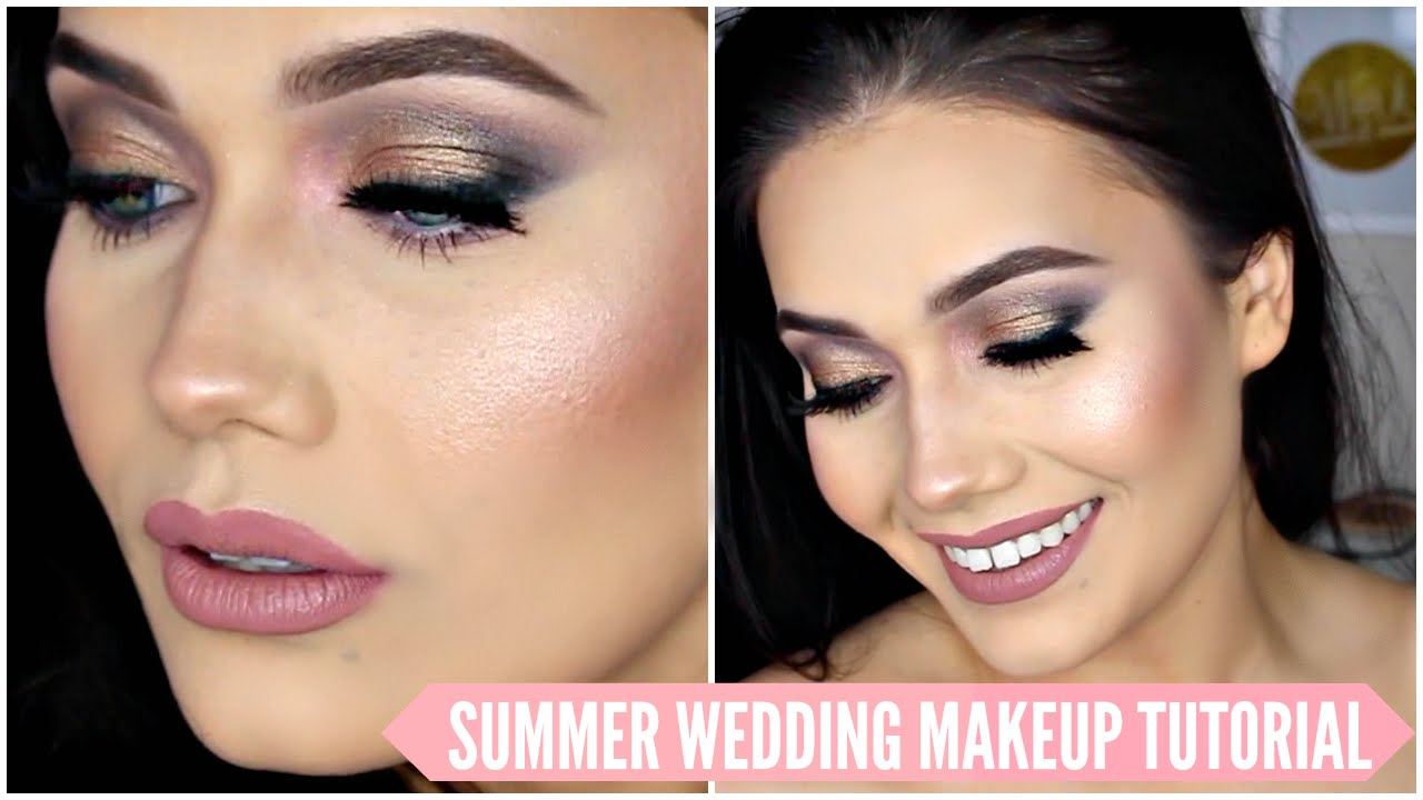 Wedding Makeup Tutorial | Romantic Sultry Wedding Bridal Makeup Tutorial Summer 2016 Youtube