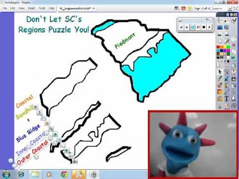 South Carolina Regions Puzzle - YouTube