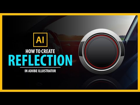 How to create reflection in Adobe illustrator - vector tutorial thumbnail