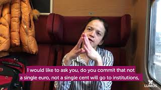 Lumos Self-Advocate Mihaela calls on MEP candidates to protect children's rights