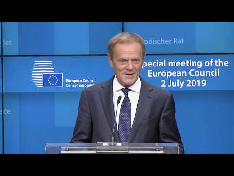 Full Donald Tusk Press Conference - 2 July 2019 EU Council Special Summit