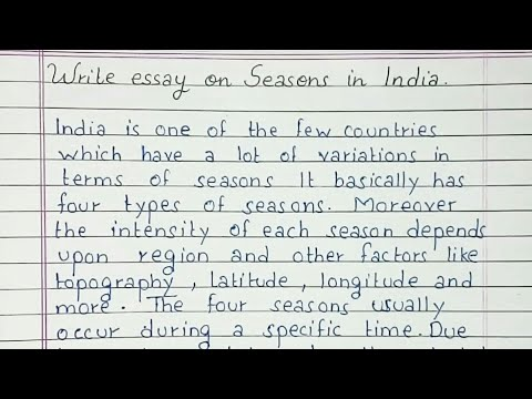 Write An Essay On Seasons In India | Essay Writing | English