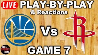 Warriors vs Rockets Game 7 | Live Play-By-Play & Reactions