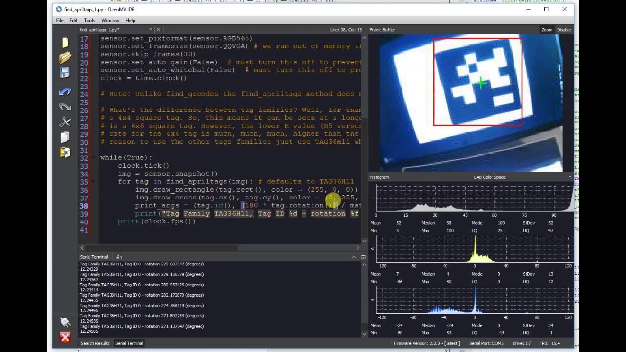 OpenMV Cam H7 - Machine Vision w/ MicroPython  by OpenMV