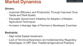 Improved Efficiency and Productivity of Crop Yields Drives the Variable Rate Technology Market