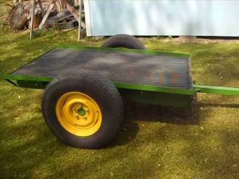 garden tractor trailer part 6 finished project and john deere 112 - Garden Tractor Trailer