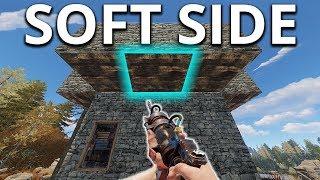 SOFT SIDE JACKHAMMER RAIDING A LOADED Tower Base - Rust Survival
