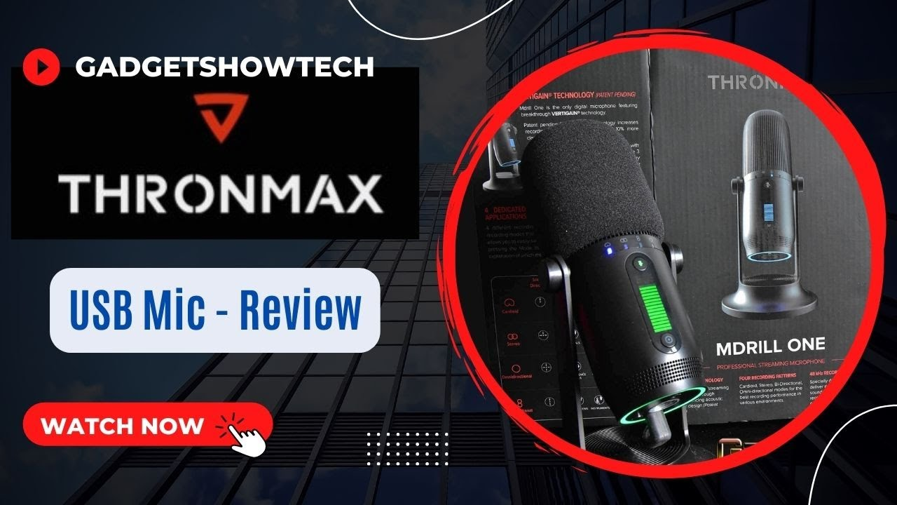 Unboxing Review Thronmax MDRILL ONE microphone LED