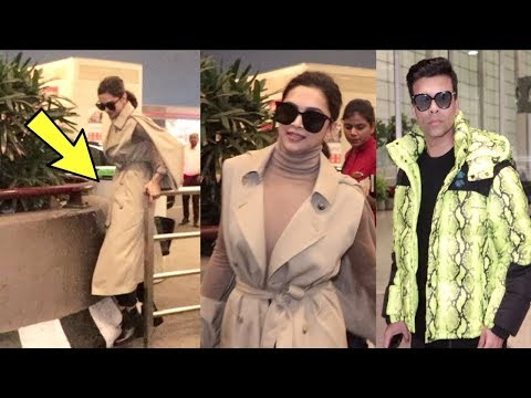 Deepika Padukone IGNORES Karan Johar At Airport Fly For WEF Annual Meeting In Switzerland