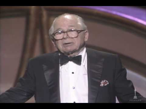 Billy Wilder receiving the Irving G. Thalberg Award