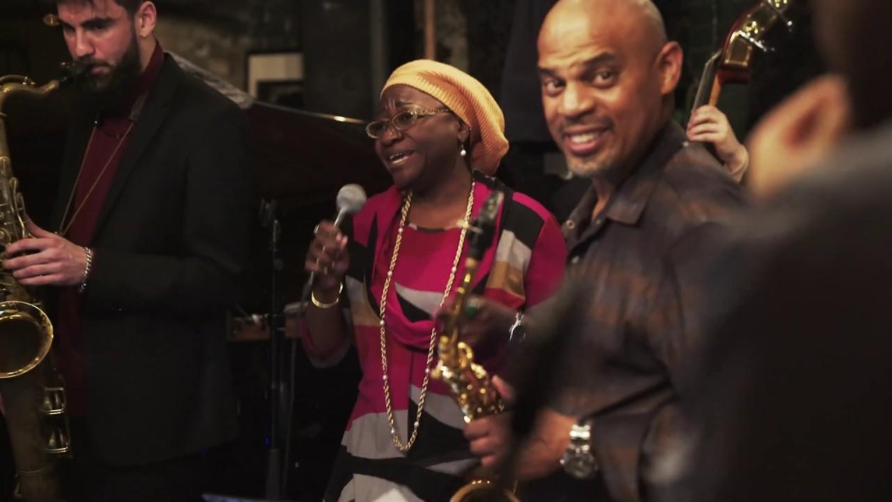 Dean Tsur Sax Choir - All of Me with Joy Brown (voc) Ruben Fox (sax solo)