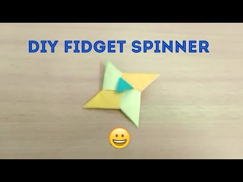 How to make a fidget spinner out of paper