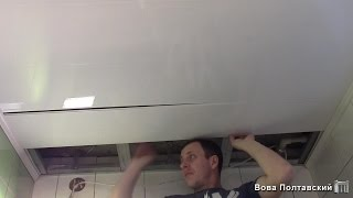 Монтаж пластиковых панелей на потолок(, 2016-02-28T13:23:01.000Z)