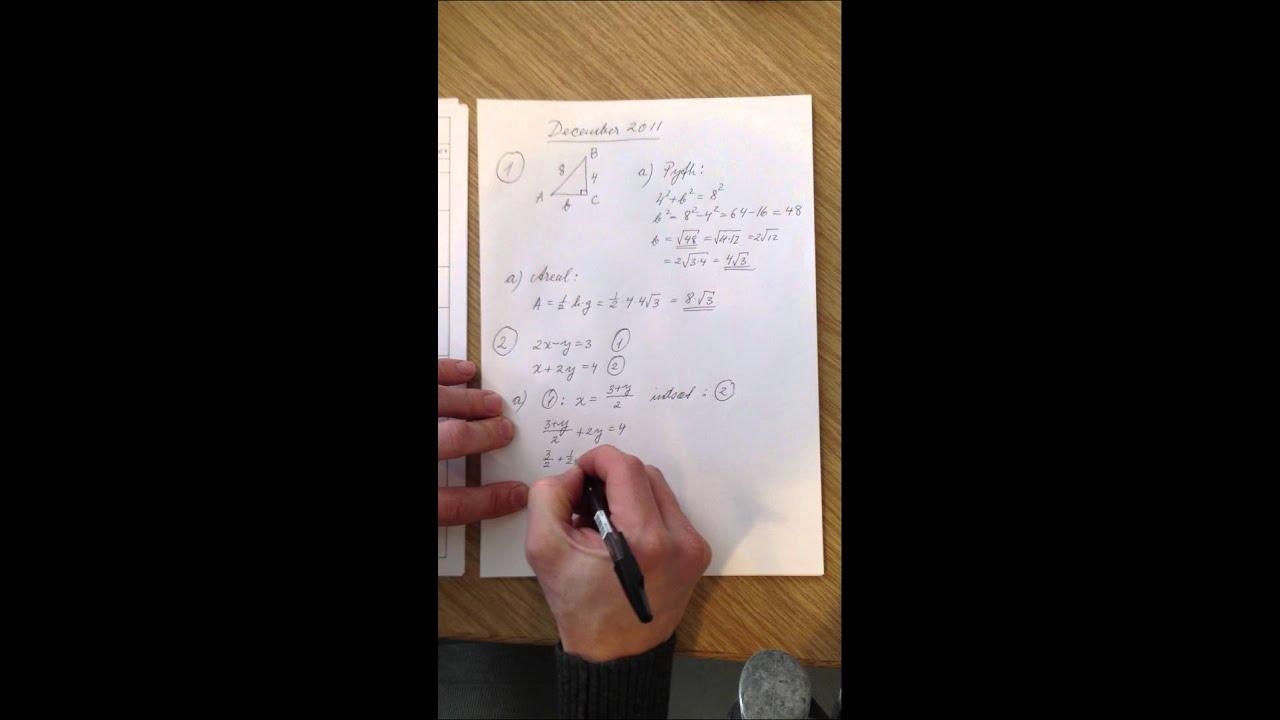 Mat B eksamenssæt december 2011 del 2