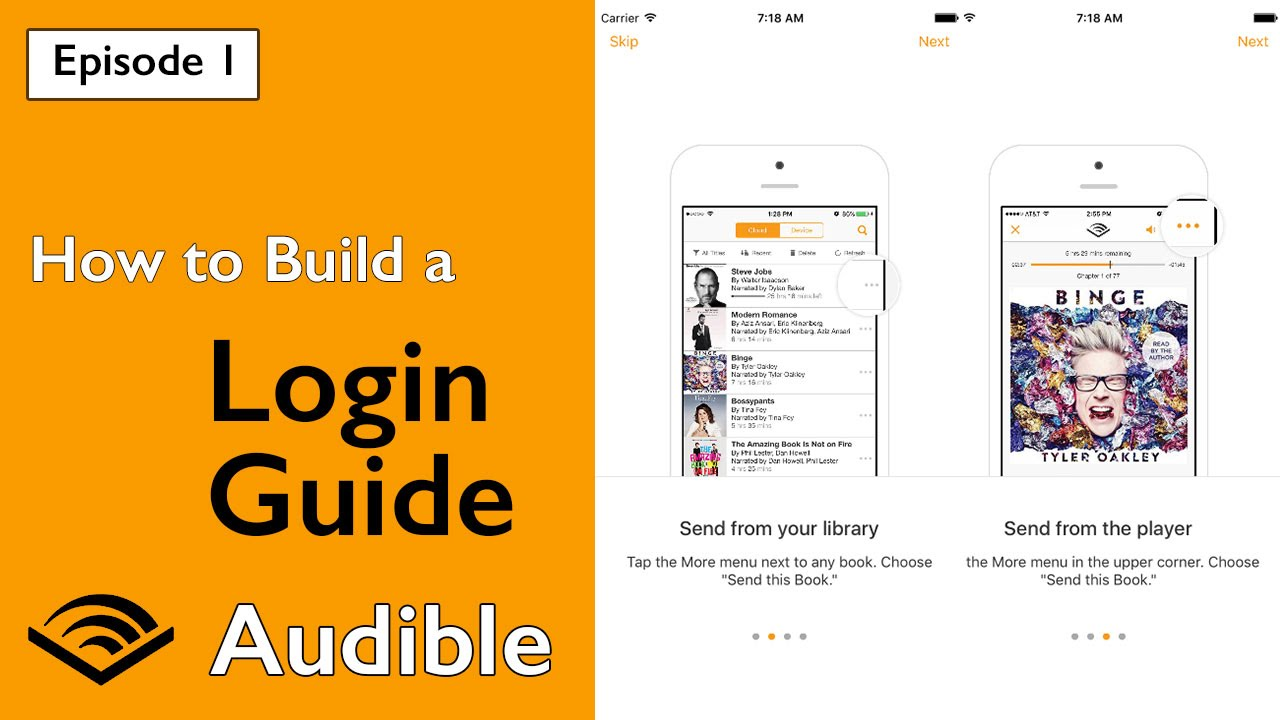 Amazon Audible Login Swift Audible How To Build A Login Guide Ep 1
