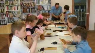 Берестяной урок в Свято-Екатерининской православной школе г. Судогды