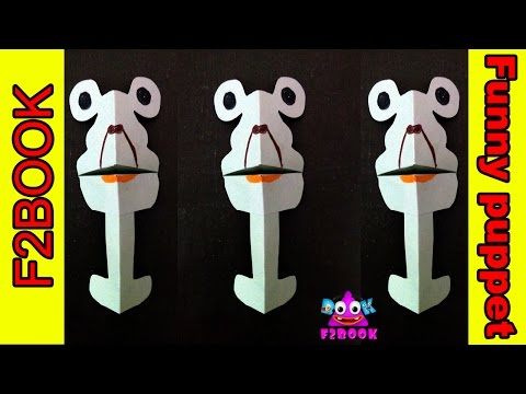 How To Make Origami talking puppet Funny || Paper Toy Sing Song