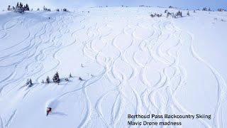 Berthoud Pass, Backcountry skiing, 1st DJI Mavic Drone flight