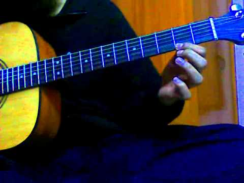 Tutorial for Tujhe Dekha Toh Yeh jaana Sanam Acoustic Guitar tutorial and tab REALLY EASY!