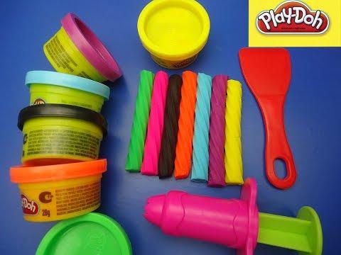 PLASTELIN ZA DECU _ Lizalice od plastelina !!! Play-Doh Rainbow Licorice !!!★★★★ Пластелин