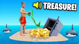 USING a METAL DETECTOR To find TREASURE (Raft)