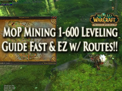 MoP Mining Guide 1-600 Leveling Fast & Easy! How To Level Mining