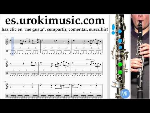 Como Tocar Clarinete Schubert - Ave Maria Tablatura Parte#2 um-b927