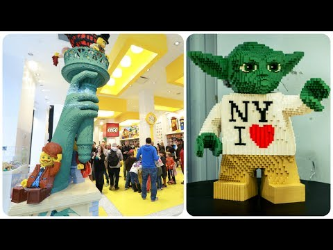New York City LEGO Store Tour & Walkthrough - YouTube