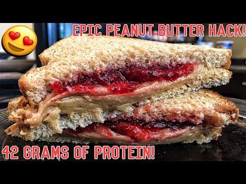 High Protein Bodybuilding Peanut Butter & Jelly Sandwich | Healthy Recipe