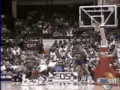 Michael Jordan pass to Horace Grant dunk vs Detroit - NBA Regular Season 1987/88