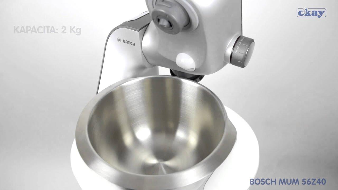 kuchynsky robot bosch mum 56z40 - youtube